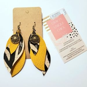 Boho layered handmade chic handcrafted earrings